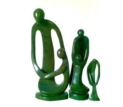 African handmade male sculpture