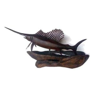 Handmade fish sculpture