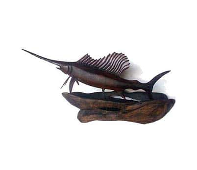 Handmade fish sculpture