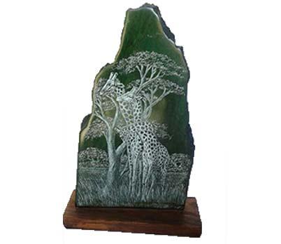 African giraffe sculpture