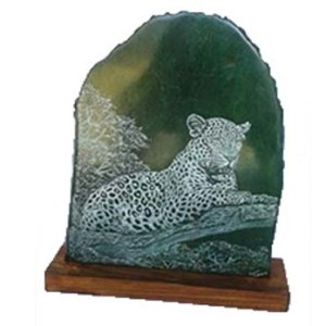 African decorative leopard sculpture