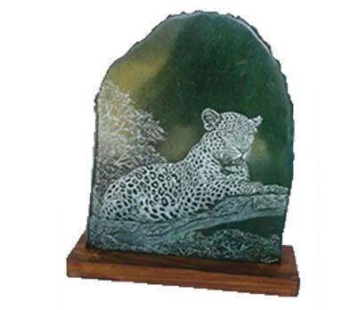 African decorative leopard sculpture