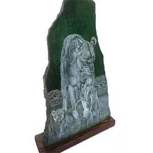 Handmade lion sculpture